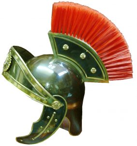 casco romano laton cresta adelantada
