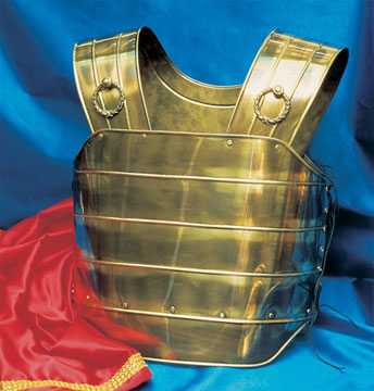 Coraza Romano II color Oro viejo