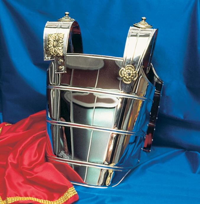 coraza romano III color plata