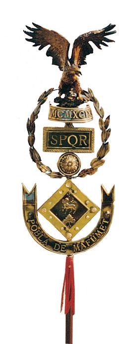 Estandarte de Lujo para Escuadrones Romanos, Grupos de Alabarderos, d´Armats con los escudos solicitados