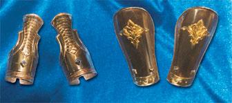 Muñequeras y Tobilleras de Lujo para Soldados Romanos realizadas en Latón para Semana Santa y recreaciones históricas