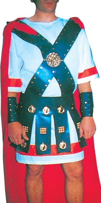 Vestuario para Soldado Romano II con Túnica, Capa y Correajes
