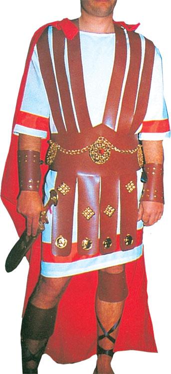 Vestuario Romano IV compuesto por Túnica, Capa y Correajes de Falda, Muñequeras y Tobilleras