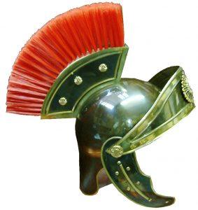 casco romano latón lujo