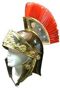 casco romano latón lujo oro viejo