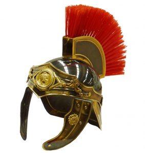casco soldado romano frontal adornado