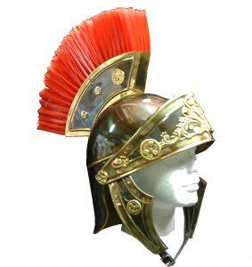 Casco soldado romano oro viejo