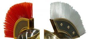 Casco Romano con cepillo de pelo